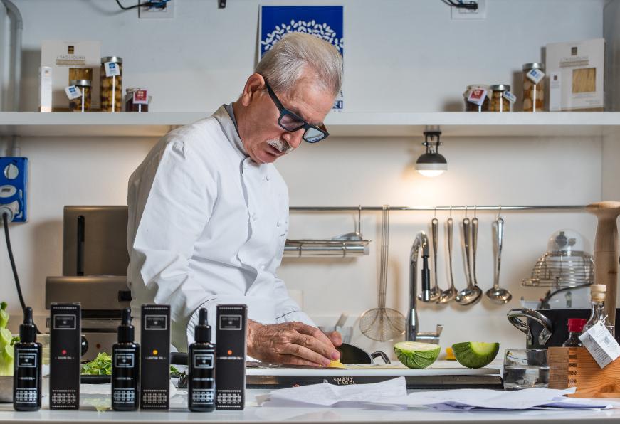 Il Maestro Sergio Mei propone gli abbinamenti dell'olio di lentisc